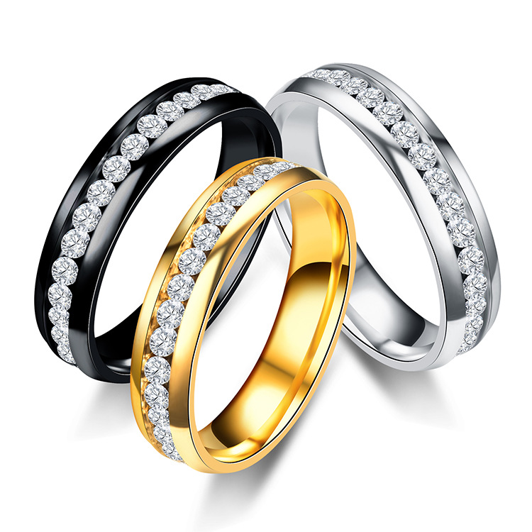 6mm Stainless Steel Engagement Ring Us Size 6 To 13 3 Colors