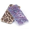 Pintado tpu soft case para iphone 6 6 s 5 5S se 7 mais 6 mais lobo flores plantas da paisagem impresso padrão phone bag case capa