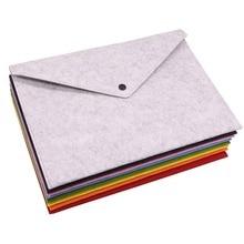 8 stücke Einfache Feste A4 Große Kapazität Dokument Tasche Business Aktentasche Datei Ordner Chemische Fühlte Einreichung Produkte Student Geschenke