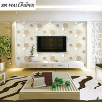 חדש מגיע 3D סגנון אופנה מודרני אופנה מדבקות קיר PVC ויניל לחדרי שינה עיצוב בית טפט רקע טלוויזיה בסלון