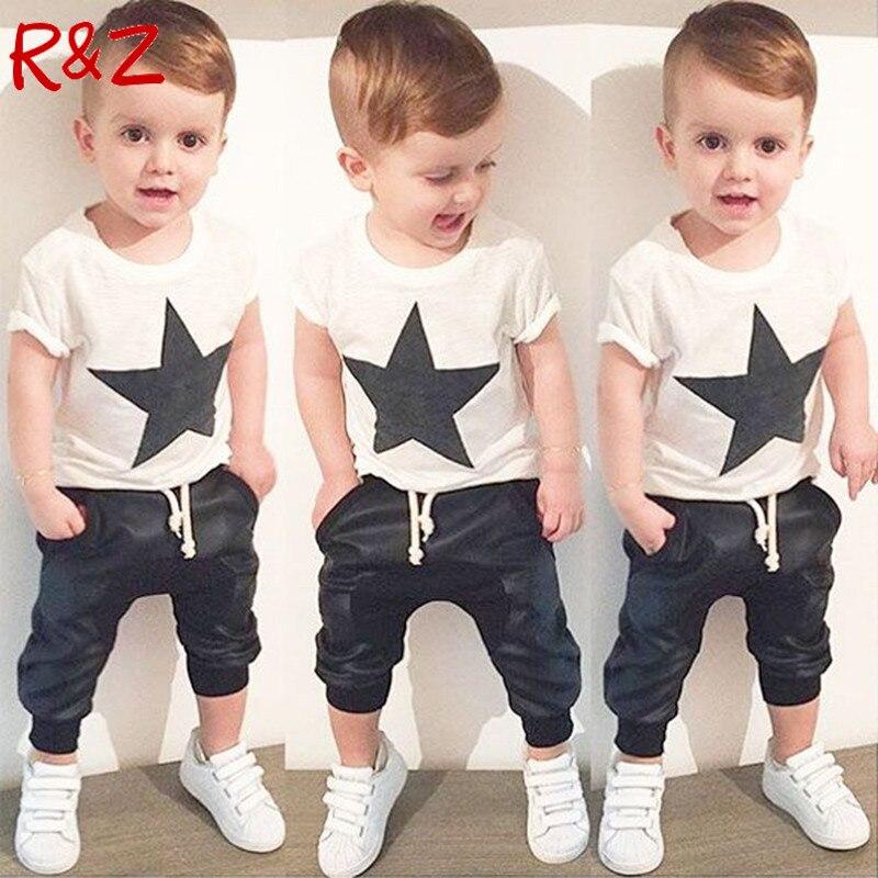 Sommer Jungen Kleidung 2016 Neue Babykleidung Set Muster Kaninchen - Kinderkleidung
