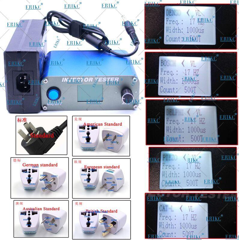 Appareil de contrôle électronique de buse d'injecteur de Feul Diesel d'erikc, outil de Diagnostic automatique d'équipement d'essai de buse d'injecteur de Rail commun E1024032