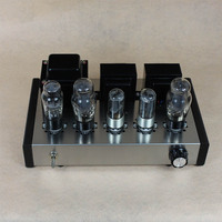 vacuum tube amplifier DIY 6P3P Home Audio Tube Amplifier New Computer Case 6N8P Pure Full Set Tube Amplifier Assembly DIY Kits