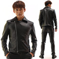 New Fashion Black PU Leather Men's Jacket Slim Casual Costumes Outfit Male Dj Singer Ds Stage Performance Punk Prom Blazer