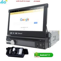 Universal 1 Din Android 7 1 Quad Core Car DVD Player GPS Wifi BT Radio BT