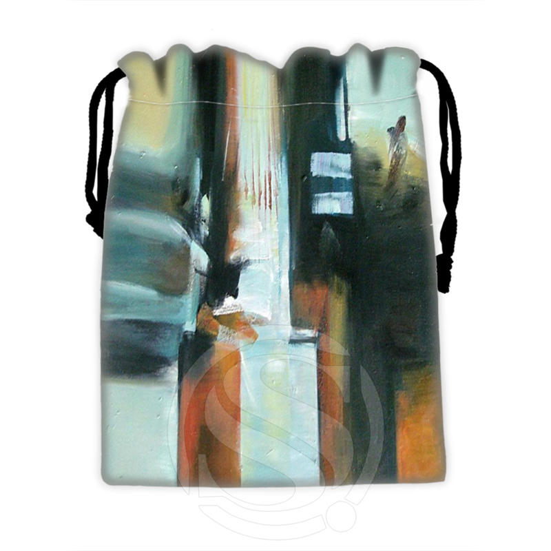 New Famous Western Oil Painting #7 Custom Logo Printed  Receive Bag  Bag Compression Type Drawstring Bags Size 18X22cm TW902#u7