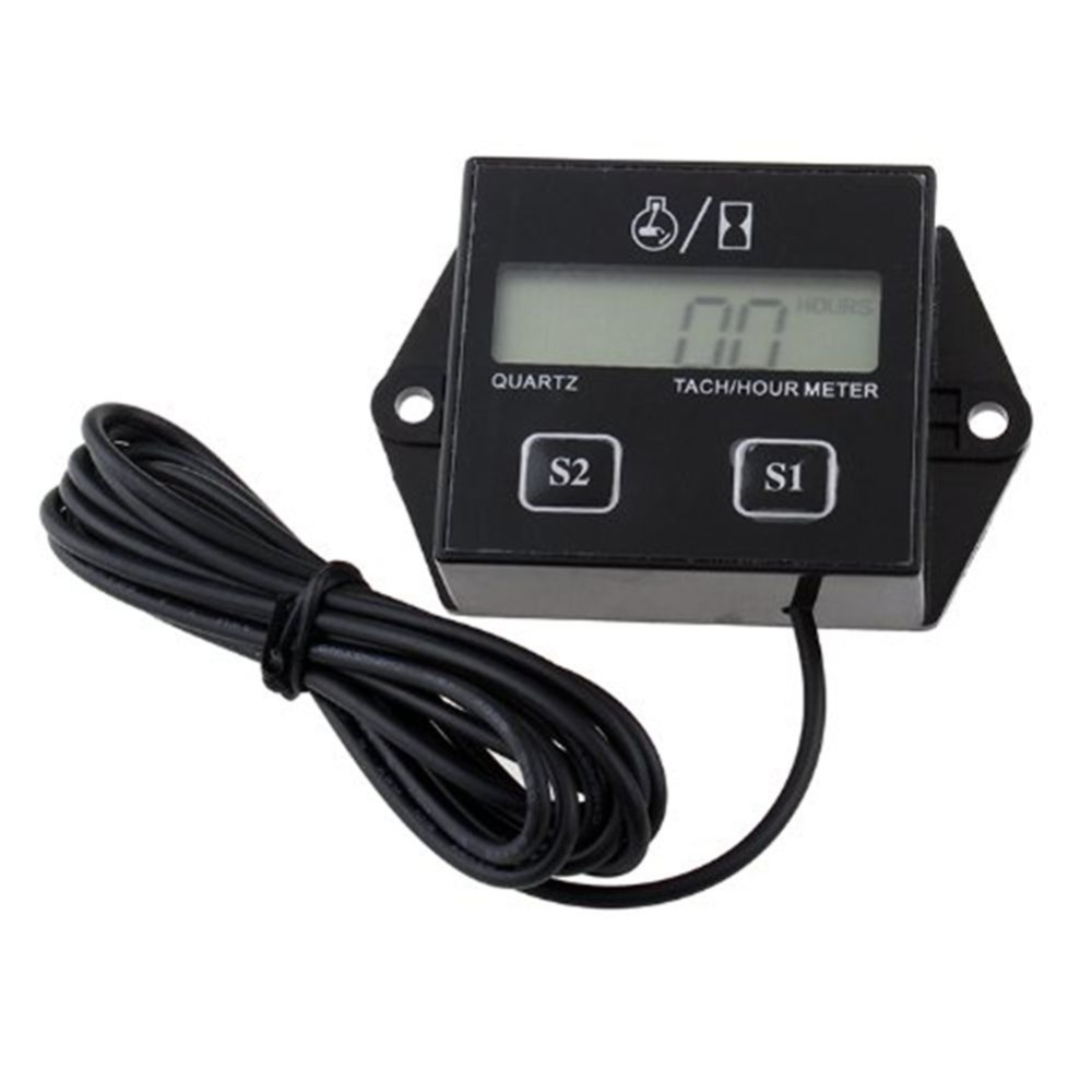 High Quality Digital Engine Tach Tachometer Toerenteller Hour Meter Inductive For Motorcycle Motor