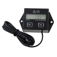 High Quality Digital Engine Tach Tachometer toerenteller Hour Meter Inductive for Motorcycle Motor ged2600p engine laser tachometer motor machine automobile rotate speed tester digital engine tachometer ged 2600p fast shipping