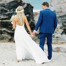 Элегантные кружевные свадебные платья speghetti милое ТРАПЕЦИЕВИДНОЕ