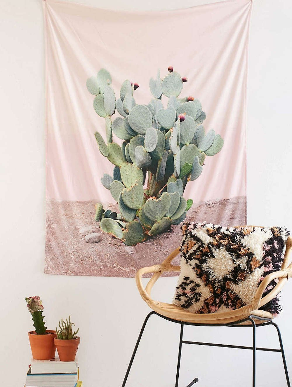Verde Wilder California Tuna Tapices Cactus Tapices Pared Decoracion - Tapices-pared