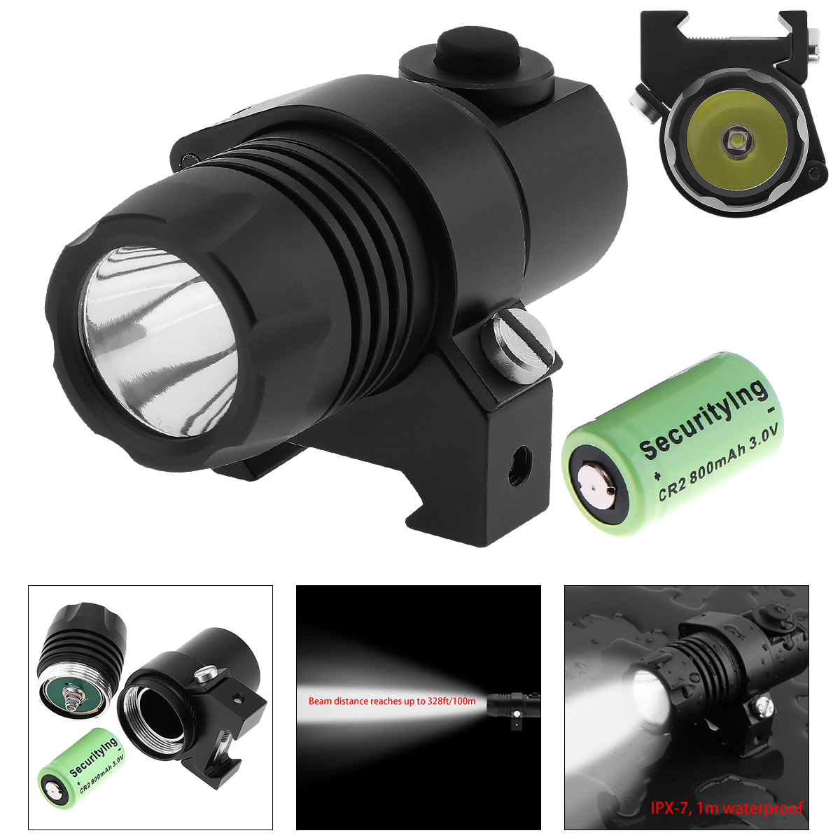 Waterproof G05 XP-G R5 LED 210LM Tactical Flashlight Military Weapon Lights With 2 Modes Light + CR2 3V 800mAh Lithium Battery