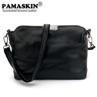 PAMASKIN Brand Women Messenger Bags Premium Real Leather 2017 New Arrivals Simple Lady Shoulder Bags Hot