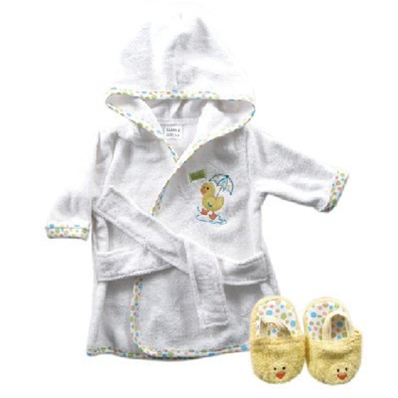New Design Cotton Warm Baby Bath Robes Child Cartoon Baby Towel Character Kids Bath Towel Infant Hooded Towel Set (4)