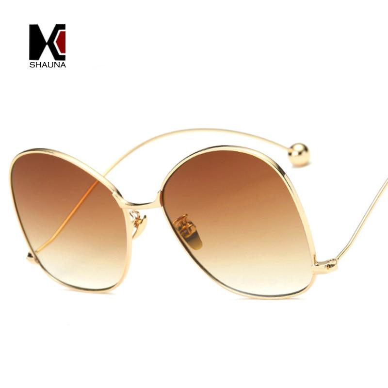SHAUNA Mode Femme Ronde lunettes de Soleil Marque Designer Hommes Petite  Boule Décoration Lunettes 4547fc47cb39