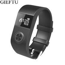 GIEFTU SX101 Умный Браслет bluetooth smartband heart rate monitor фитнес Tracker будильник Спорт для Android iOS