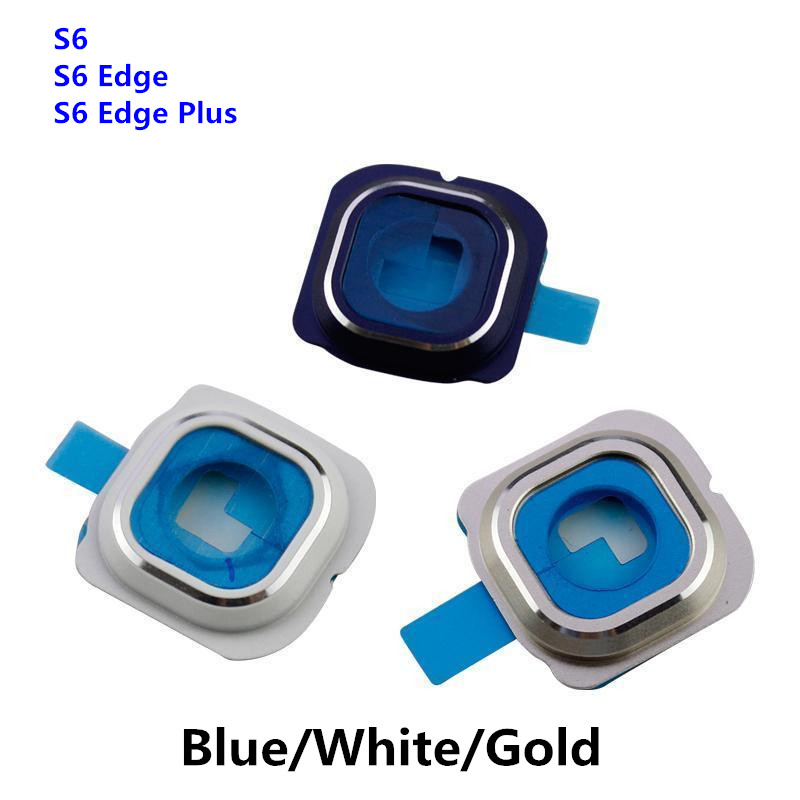For <font><b>Samsung</b></font> Galaxy <font><b>S6</b></font> Edge Plug G920 G925 G928 Back Rear <font><b>Camera</b></font> <font><b>Glass</b></font> Lens Cover with Frame Holder Replacement Part image