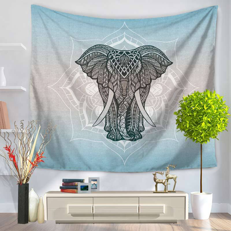 Cammitever Elephant Tapestry Wall Hanging Decor Indian Home Hippie Bohemian Tapestry For Dorms China