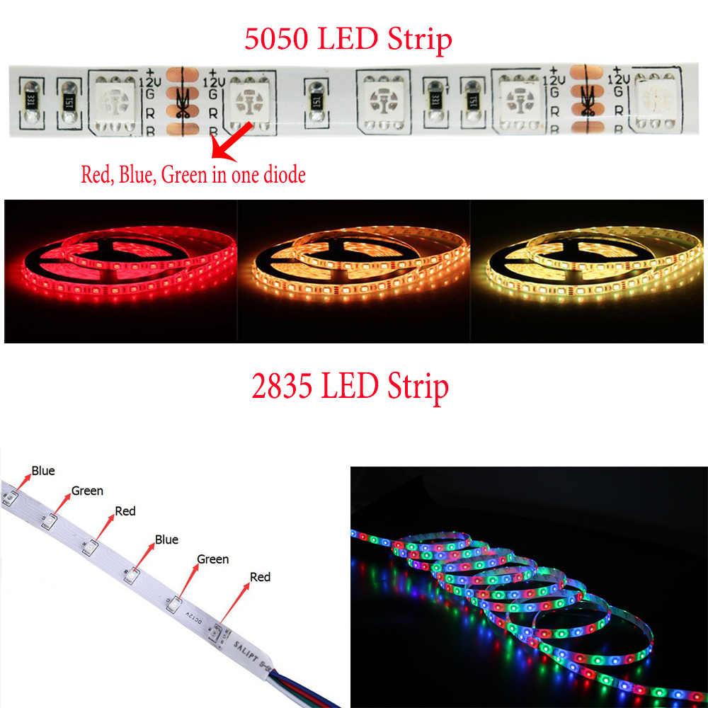 Светодиодный светодио дный Wi-Fi RGB лента водостойкий Канатный свет RGB светодио дный wifi светодиодный контроллер 24Key пульт дистанционного управления 5 м 2835 5050 теплый белый синий красный Fita 12 В в адаптер