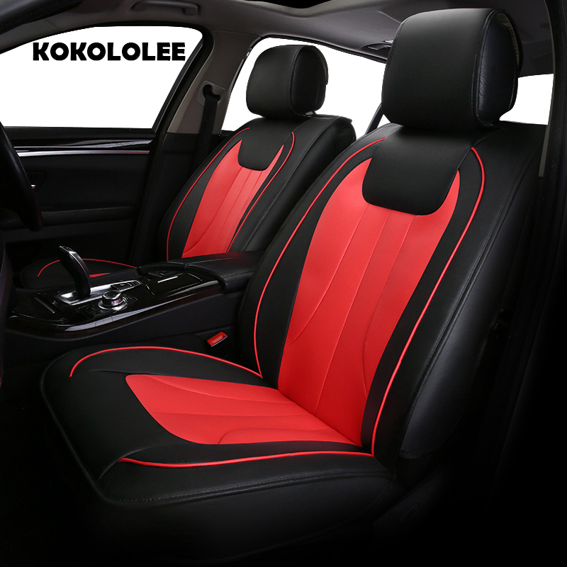 KOKOLOLEE Special pu leather car seat cover for sangYong Korando Actyon Rexton Chairman Kyron car accessories auto styling aosrrun cover the black rain rain shield rain or shine ordinary rain eyebrow for ssangyong korando kyron actyon car accessories