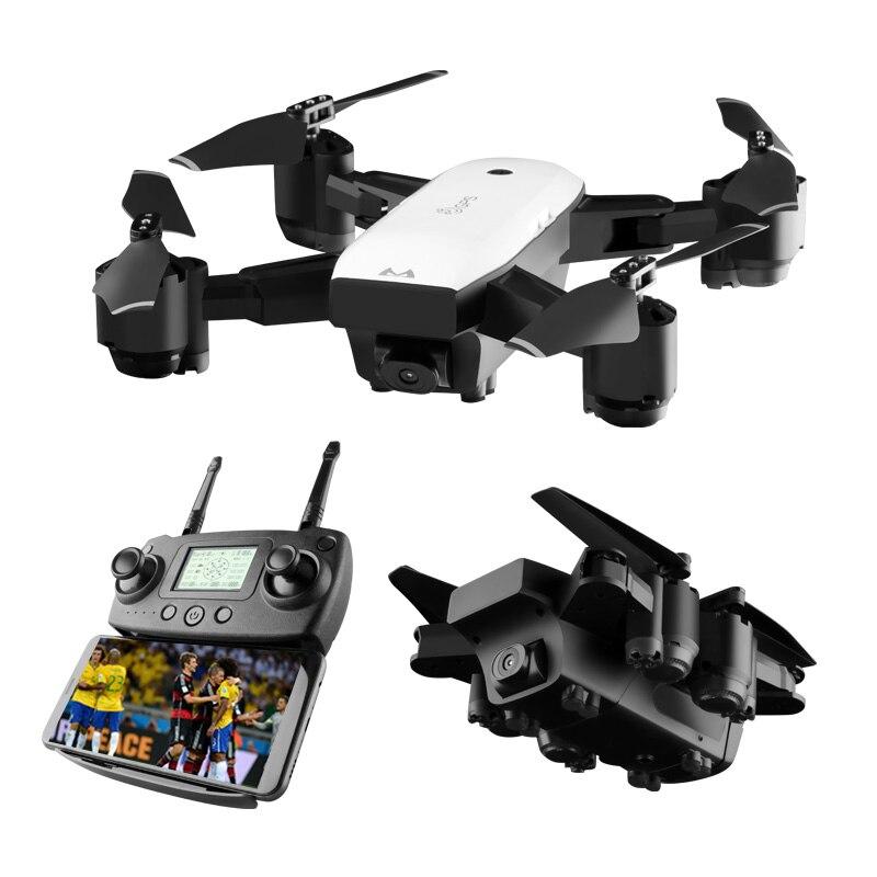 Racing Dron avec Caméra HD Grand Angle 1080 p 5MP WIFI FPV Helicoptero RC Drone Profissional Me Suivre GPS Quadcopter des avions Jouet