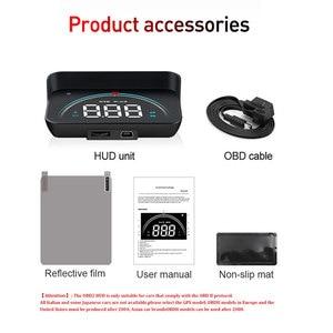Image 5 - M8 wyświetlacz samochodowy HUD Head Up OBDHUD 3.5 Cal nowy OBD temperatura nadmierna prędkość RPM ostrzeżenie alarmy napięciowe kolorowy wyświetlacz LED