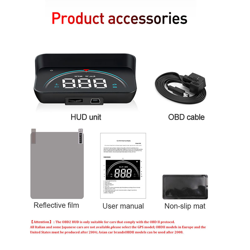 Image 5 - OBDHUD 3.5 Inch New OBD M8 Car HUD Head Up Display Temperature Overspeed RPM Warning Voltage Alarms Colorful LED Screen Displa-in Head-up Display from Automobiles & Motorcycles