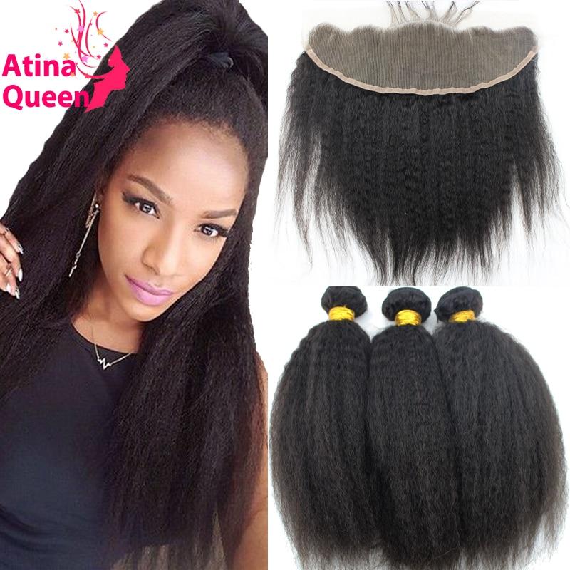 7A Brazilian Kinky Straight Virgin Hair with