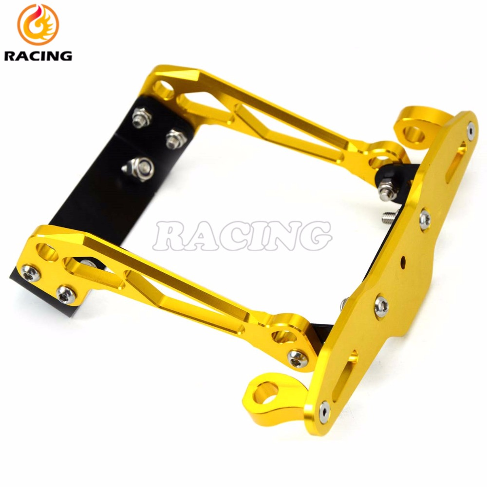 MOTO NEW 5colors Universal CNC aluminum Motorcycle License Plate Holder Mount Bracket Hanger Registration for most of motorcycle