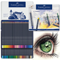 Original Faber-castell Oily Color Pencil Goldfaber metal tin 12/24/36/48 Colors Lapis De Cor Professionals Artist Painting