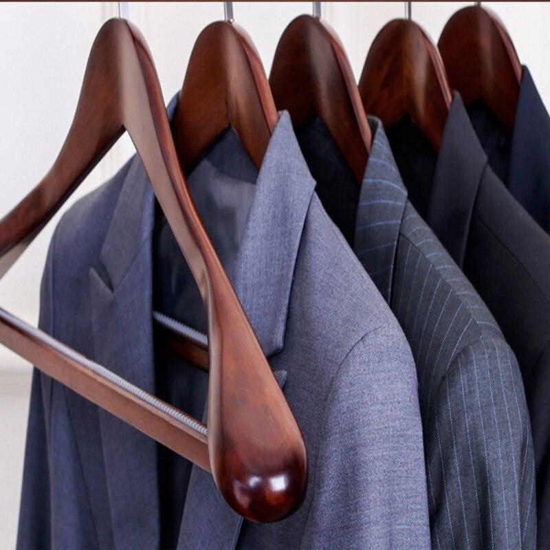 4pcs lot 45 40cm men and women s solid wood hangers The suit broad shouldered wooden