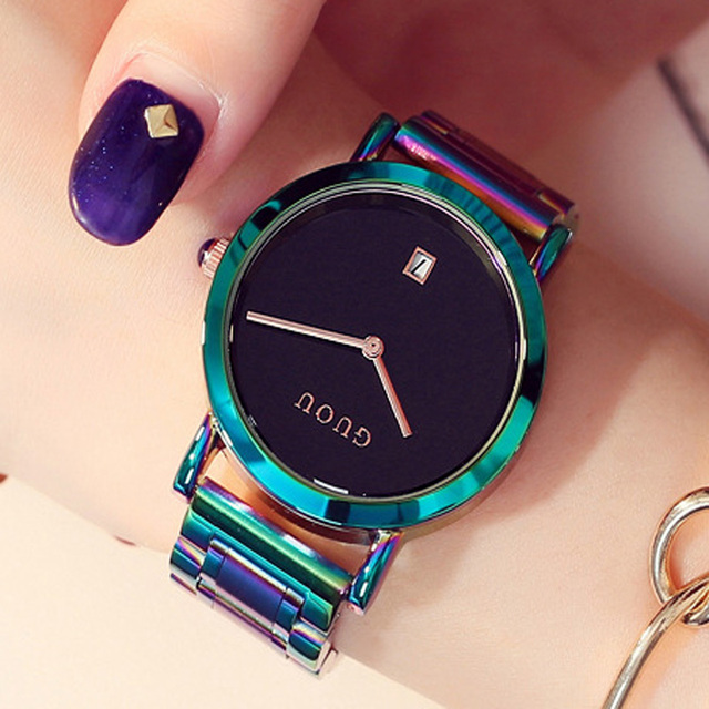 Colorful Stainless Steel Watch