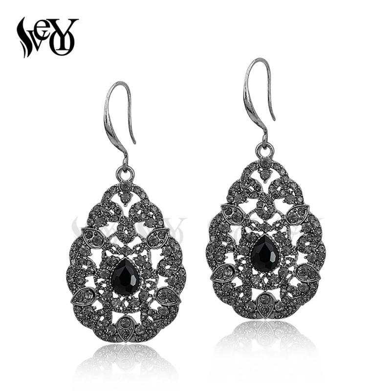 VEYO kristalli korvakorut korvakoukku strassi kivi korvakorut naisille klassinen kuuma myynti korkealaatuisia Brincos Pendientes