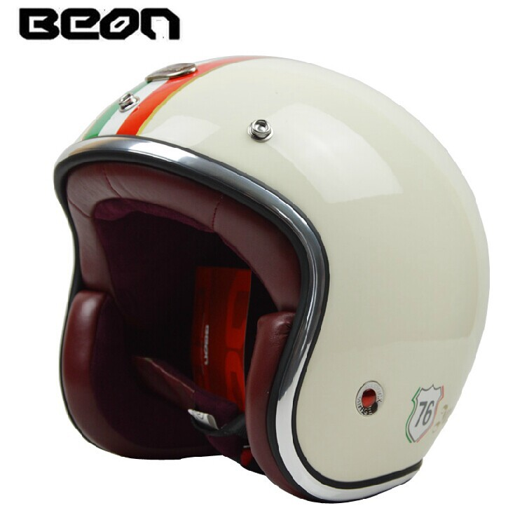 buy fashion brand beon motorcycle helmet vintage scooter open face helmet retro. Black Bedroom Furniture Sets. Home Design Ideas