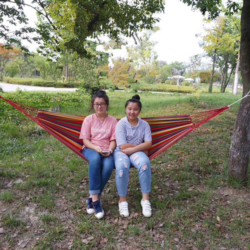 Outdoors Canvas Double Hammock 5 Colours 1.5M Wide for Traveling Bushwalking Activity Camping Hammock 2 People Sleeping Hamaca 2 people portable parachute hammock outdoor survival camping hammocks garden leisure travel double hanging swing 2 6m 1 4m 3m 2m