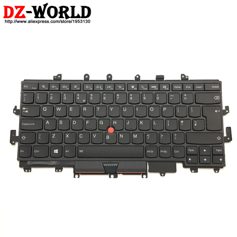 New Original for Lenovo Thinkpad X1 Yoga Backlit Keyboard UK English 00PA071 00JT887 01AW926 SN20H34980 new russian keyboard for lenovo thinkpad yoga 4 pro yoga 900 backlit ru laptop keyboard