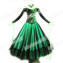 New style Latin Ballroom dance costume,BALLROOM DANCEWEAR,latin dance competition dresses,Tango dance dresses,GREEN DANCE DRESS,