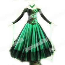 New style Latin Ballroom dance costume,BALLROOM DANCEWEAR,latin dance competition dresses,Tango dance dresses,GREEN DANCE DRESS,