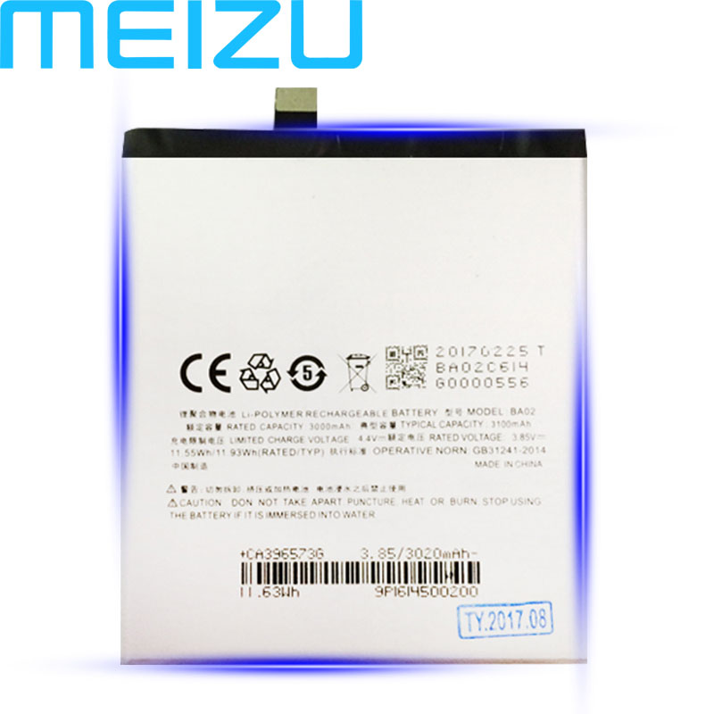 Meizu BA02 M3e-Phone Battery 3100mah Original With Tracking-Number For Meilan Latest-Production