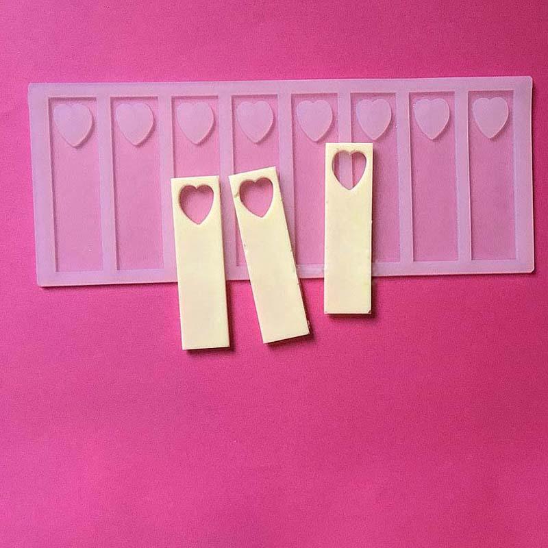 9cm κούφια καρδιά DIY Σιλικόνης Σοκολάτα - Κουζίνα, τραπεζαρία και μπαρ - Φωτογραφία 3