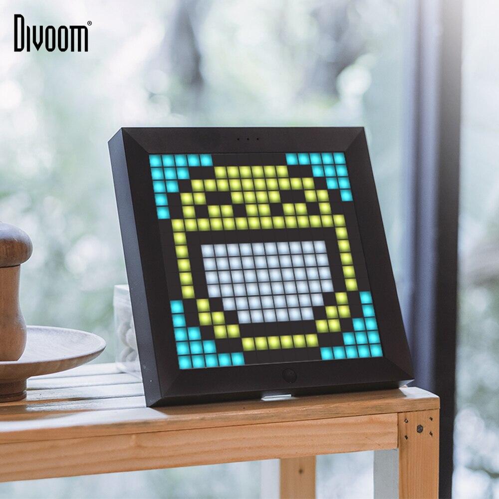Divoom Pixoo Pixel Art Bluetooth sans fil LED numérique panneau réveil costume pour Android et IOS système de contrôle LED par App bricolage