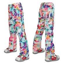 2016 Гсоу Сноу женские камуфляж лыжные брюки дамы сноубординг брюки для верховой езды на коньках брюки снег брюки водонепроницаемый 10 к высокое качество