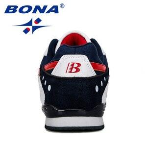 Image 2 - BONA 2019 yeni tasarımcı erkek Sneakers hafif nefes Zapatillas rahat ayakkabılar erkek spor ayakkabı açık Zapatos Hombre
