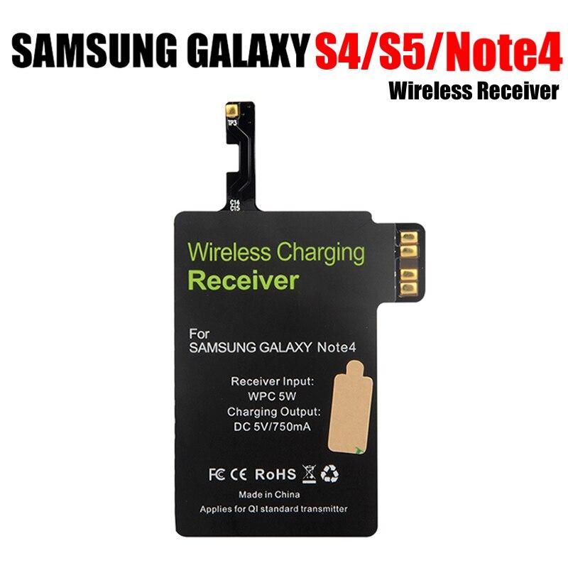 Qi receptor de carga inalámbrica con IC importado mayor calidad cargador de carga para Samsung Galaxy S5 S4 Nota 4 receptor