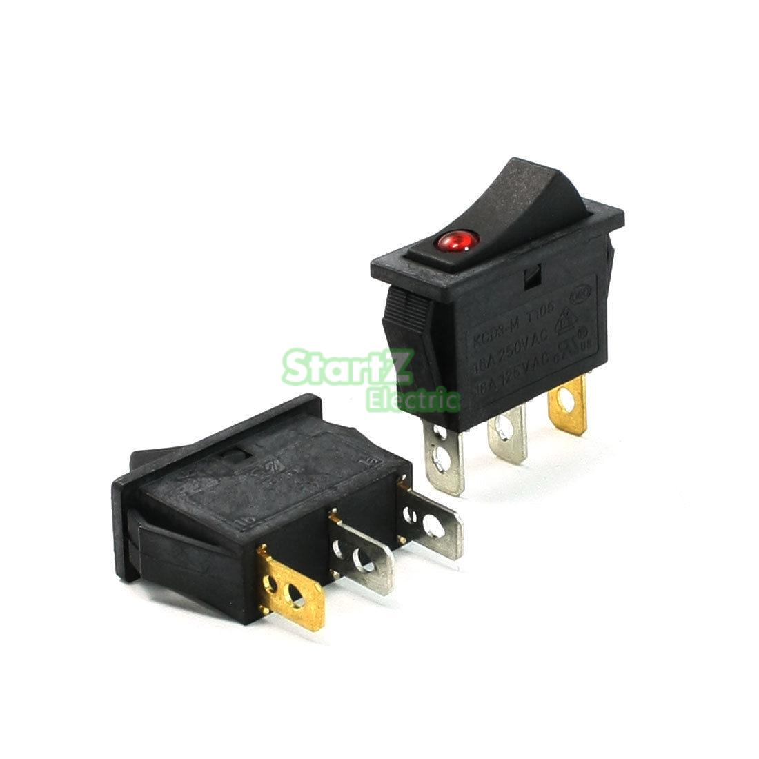 5pcs 3 Pin Red Led Light Spst 2 Position On Off Rocker Switch 15a With Wire Leads Details About Toggle 250v 125vac In Switches From Lights Lighting Alibaba Group