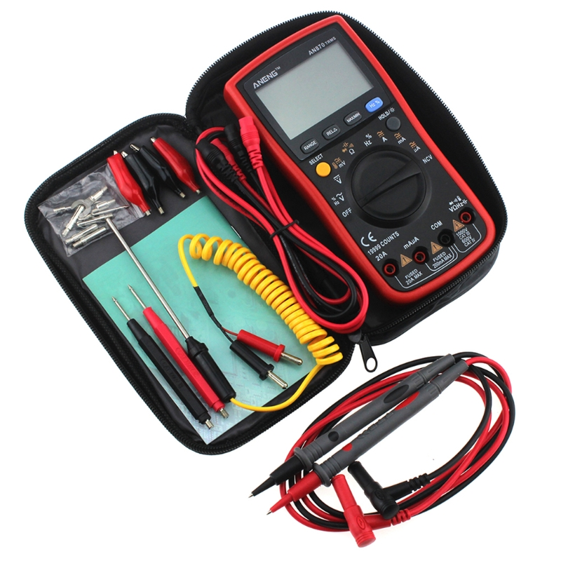 AN870 19999 COUNTS Digital Multimeter True-RMS Voltage Ammeter Current Meter an870 19999 counts true rms auto range lcd digital multimeter voltage ammeter current meter by 2 1 5v aa battery not included