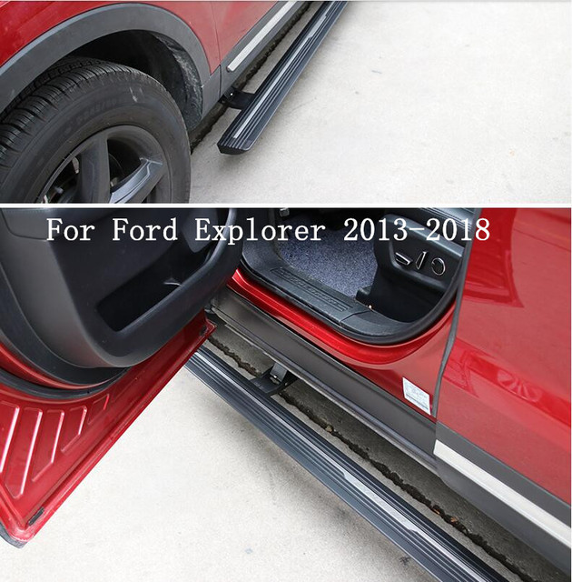Jioyng Electric Automatic Car Running Boards Auto Side Step Bar Pedals Brand New Nerf Bars Fits For Ford Explorer 2017 2018