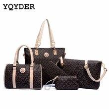 6 Sätze Frauen Leder Neverfull Handtaschen Messenger Composite-taschen frauen marke designer 2016 luxus Berühmte Marken Mode-tasche