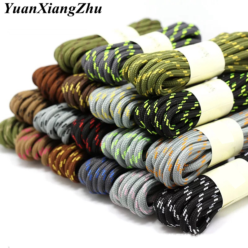 1Pair 19 Colors Round ShoeLaces Outdoor Hiking Sports Shoe Laces Kids Adult Sneakers Shoelaces Solid Lacets Baskets YD-2