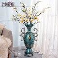 Посадка больших вазы цветочных украшений костюм стиль гербарий Искусственные цветы комнаты домашнего интерьера отельные принадлежности
