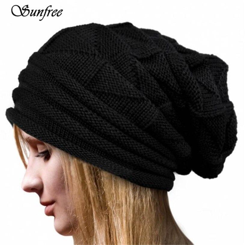 Sunfree 2016 New Hot Sale Women Winter Crochet Hat Wool Knit Beanie Warm Caps Brand New and High Quality Nov 26 rwby letter hot sale wool beanie female winter hat men